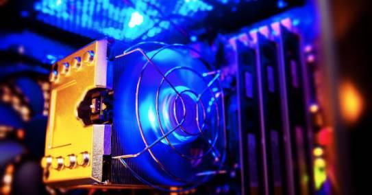 Ventilaator hakkab aeglaselt pöörlema samal ajal undavat häält tehes